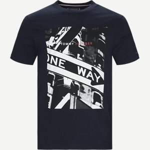 One Way Photo Print Relax Tee T-shirt Relaxed fit | One Way Photo Print Relax Tee T-shirt | Blå