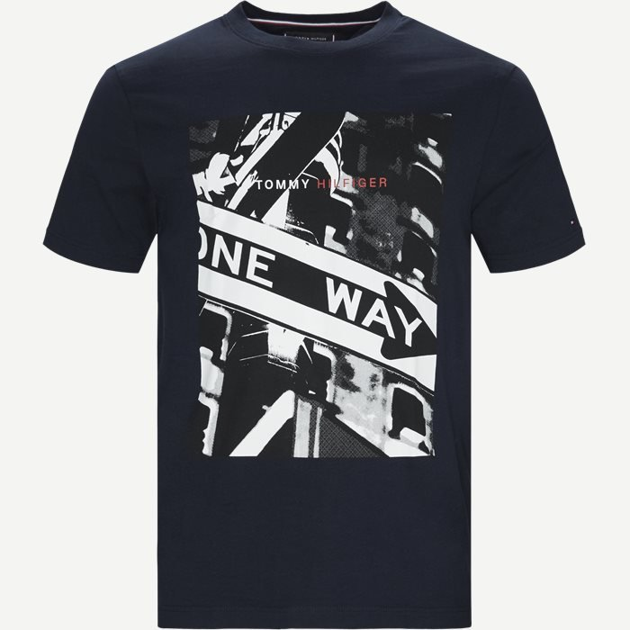One Way Photo Print Relax Tee T-shirt - T-shirts - Relaxed fit - Blå
