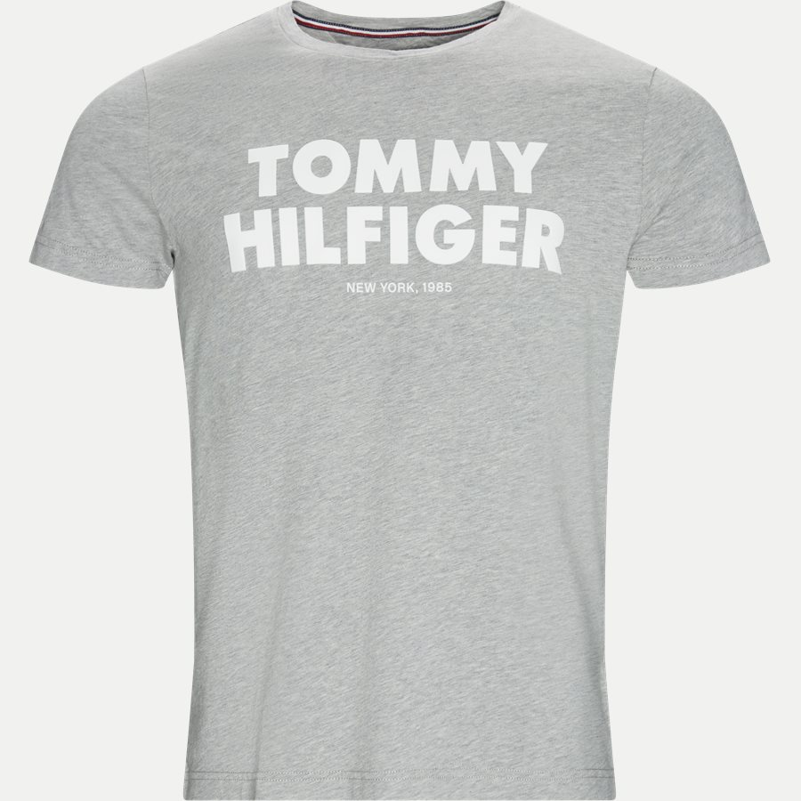 TOMMY HILFIGER TEE - T-shirts - Regular - GRÅ - 1