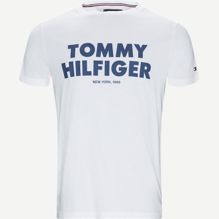 Tommy Hilfiger Tee - T-shirts - Regular - Hvid