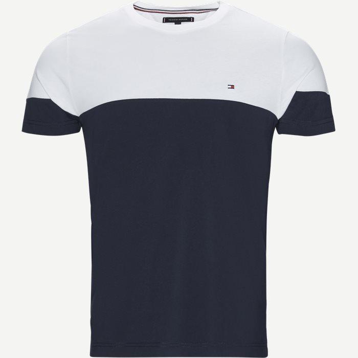 Colour Block Tee - T-shirts - Regular - Blå