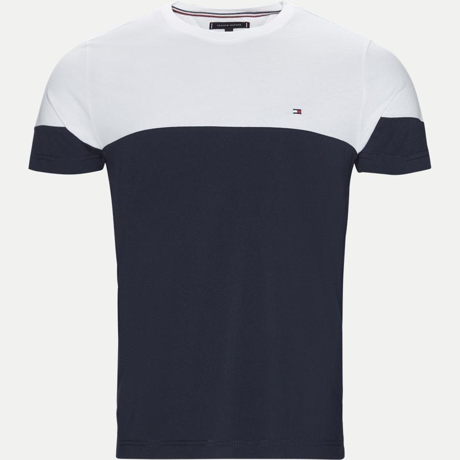COLOUR BLOCK TEE - Colour Block Tee - T-shirts - Regular - NAVY - 1