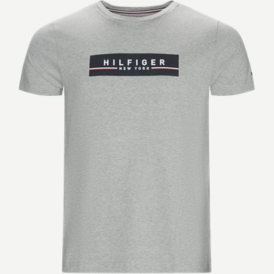 Corp Box Print Tee T-shirt Regular | Corp Box Print Tee T-shirt | Grå