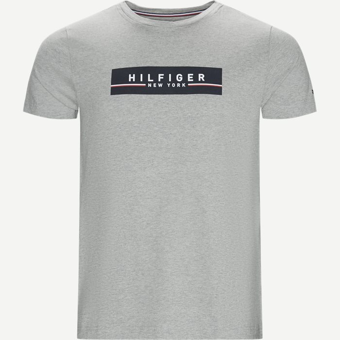 Corp Box Print Tee T-shirt - T-shirts - Regular - Grå