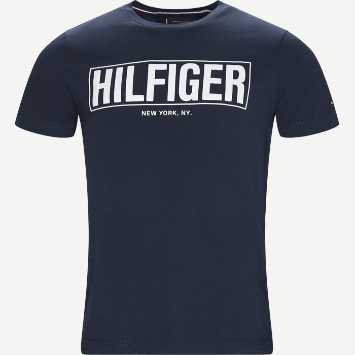 Box Hilfiger Tee - T-shirts - Regular - Blå