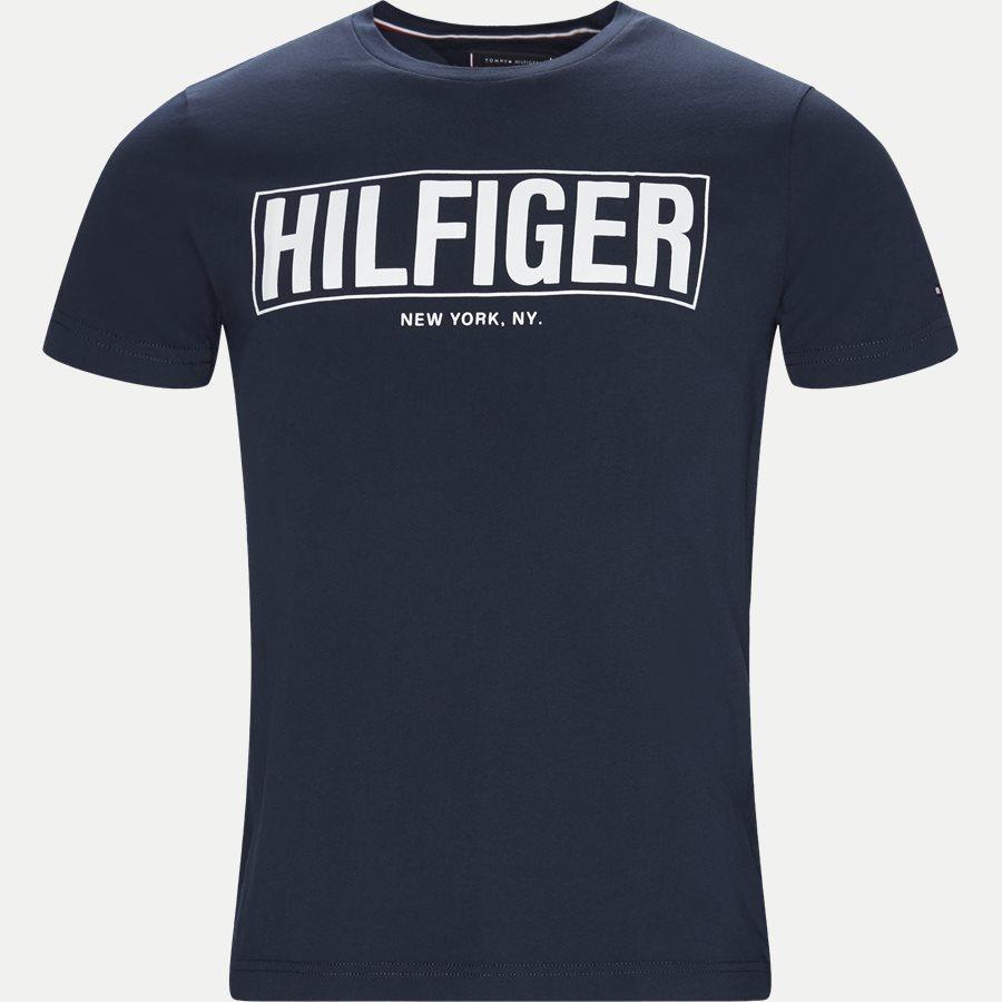 BOX HILFIGER TEE - Box Hilfiger Tee - T-shirts - Regular - NAVY - 1