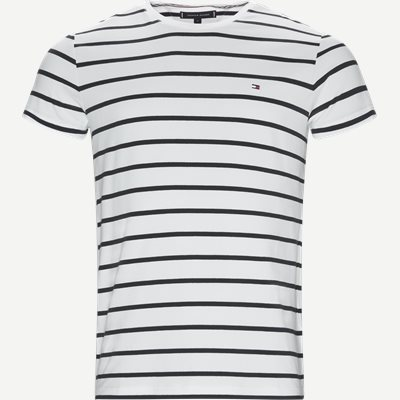 Stretch Stripe Tee Regular | Stretch Stripe Tee | Blå