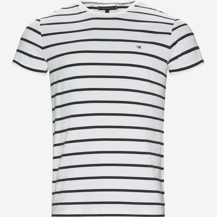 Stretch Stripe Tee - T-shirts - Regular - Blå
