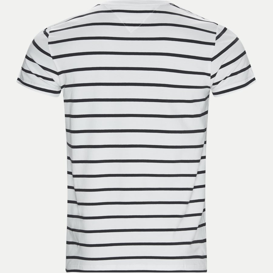 STRETCH SLIM FIT TEE - Stretch Stripe Tee - T-shirts - Slim - BLÅ - 2
