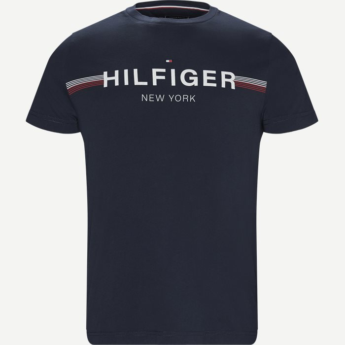 Corp Flag Tee T-shirt - T-shirts - Regular - Blå