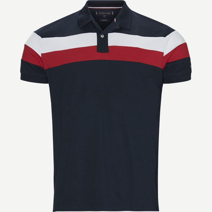 Chest Stripe Regular Polo - T-shirts - Regular - Blå
