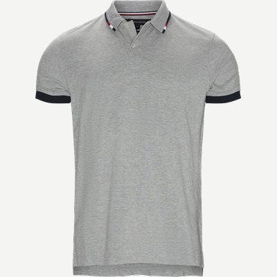 Global Tipped Collar Polo T-Shirt Regular | Global Tipped Collar Polo T-Shirt | Grå