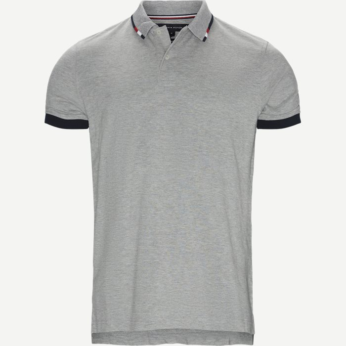 Global Tipped Collar Polo T-Shirt - T-shirts - Regular - Grå