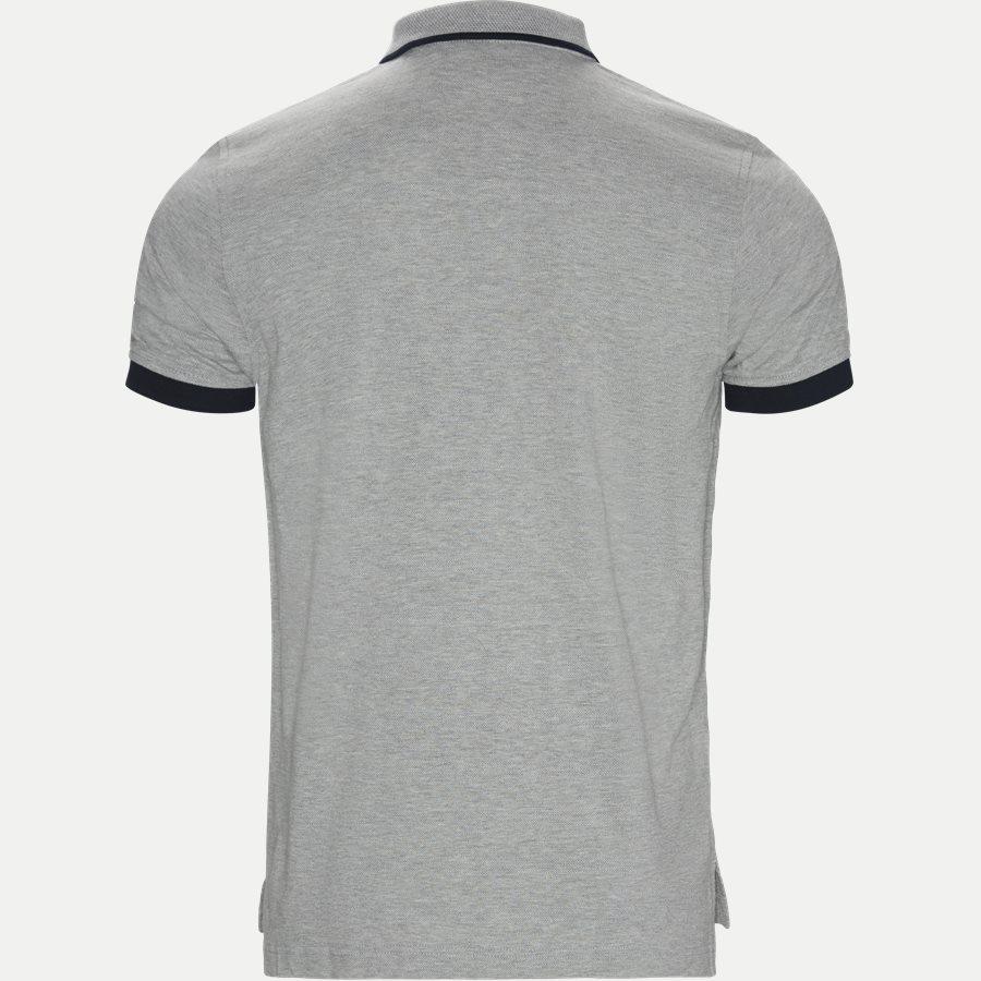 GLOBAL TIPPED COLLAR SLIM POLO - Global Tipped Collar Polo T-Shirt - T-shirts - Regular - GRÅ - 2