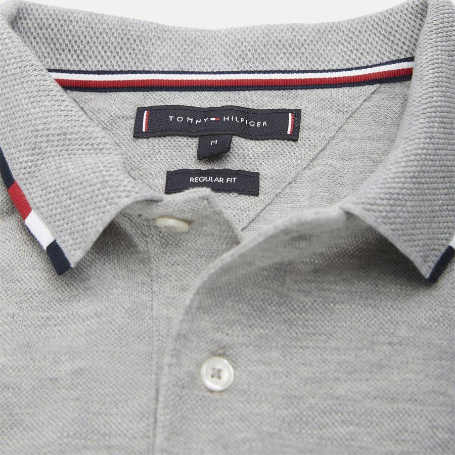 GLOBAL TIPPED COLLAR SLIM POLO - Global Tipped Collar Polo T-Shirt - T-shirts - Regular - GRÅ - 3