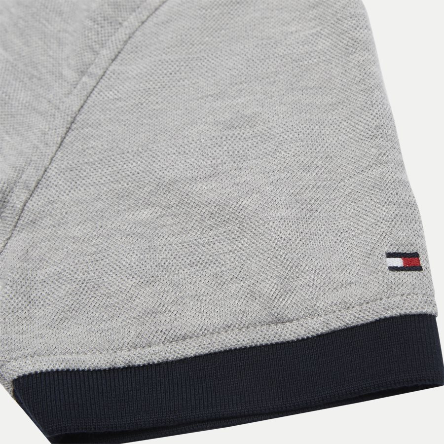 GLOBAL TIPPED COLLAR SLIM POLO - Global Tipped Collar Polo T-Shirt - T-shirts - Regular - GRÅ - 4