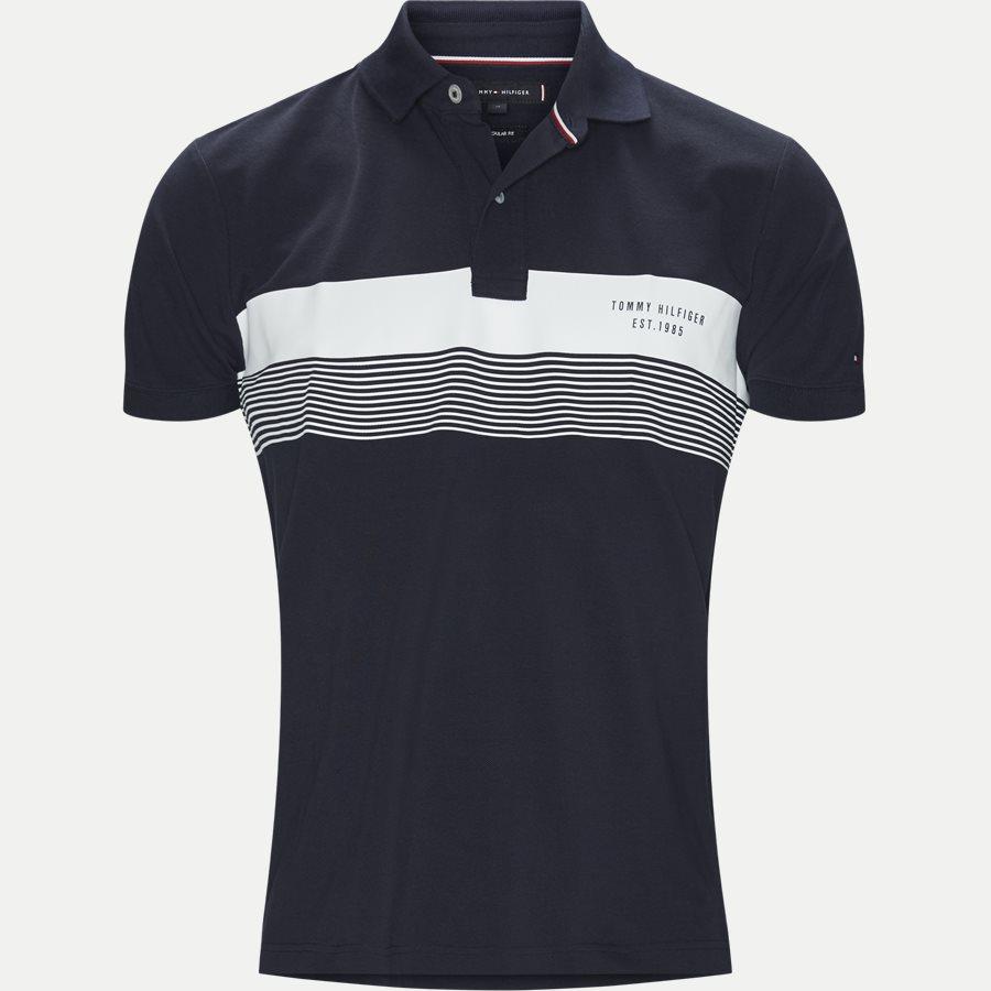 CHEST PRINT REGULAR POLO - Chest Print Regular Polo - T-shirts - Regular - NAVY - 1