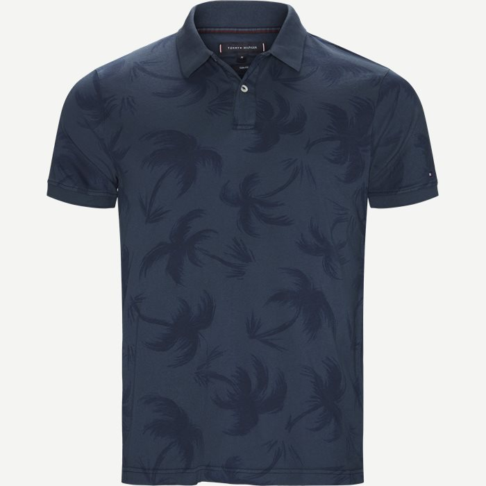 All Over Palm GMD Slim Polo - T-shirts - Slim - Blå