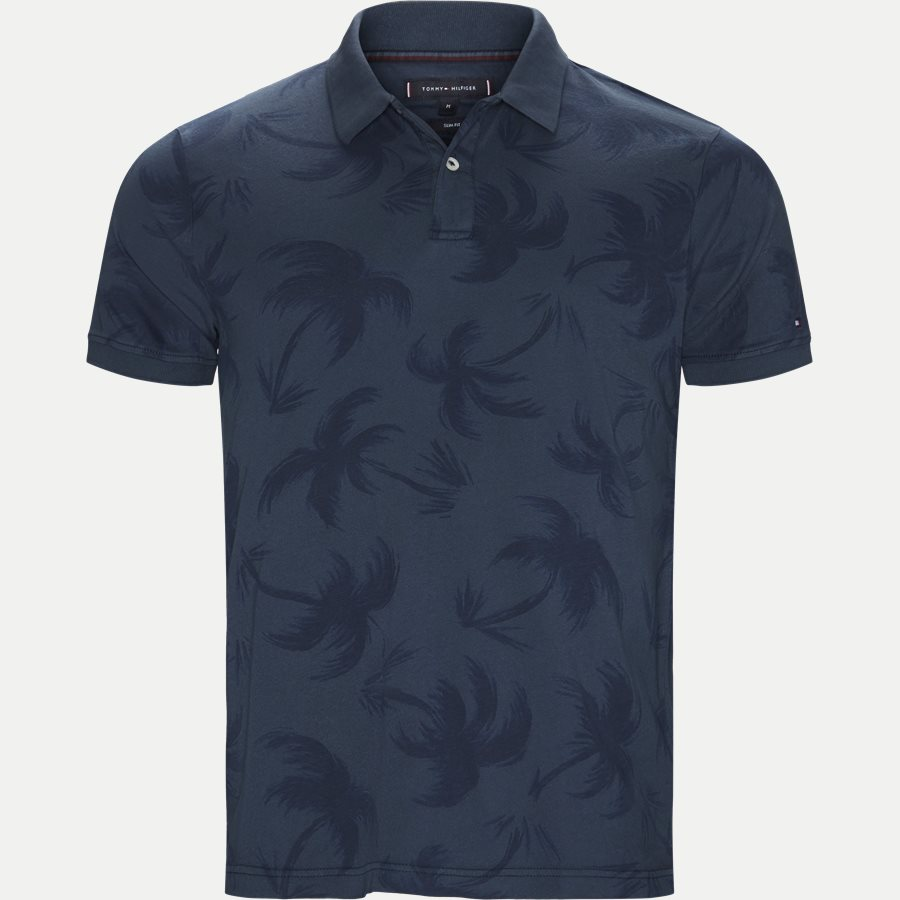 ALLOVER PALM GMD SLIM POLO - All Over Palm GMD Slim Polo - T-shirts - Slim - NAVY - 1