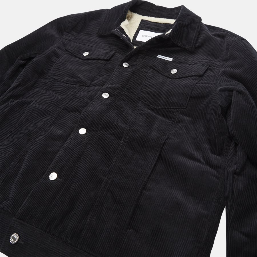 J30J309817 CORDUROY TRUCKER JACKET - jacket  - Jakker - Regular fit - BLACK - 9