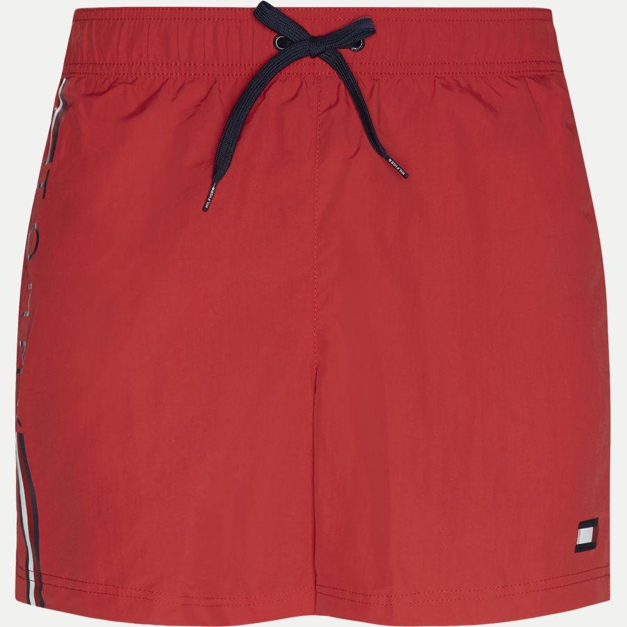 1416 SF MEDIUM DRAWSTRING - SF Medium Drawstring Badeshorts - Shorts - Slim - RØD - 1