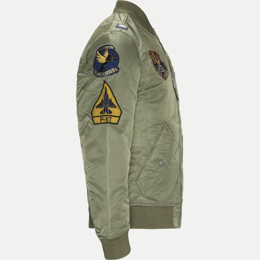 710716250 - Reversible Military-Inspiret Bomber Jacket - Jakker - Regular - ARMY - 4