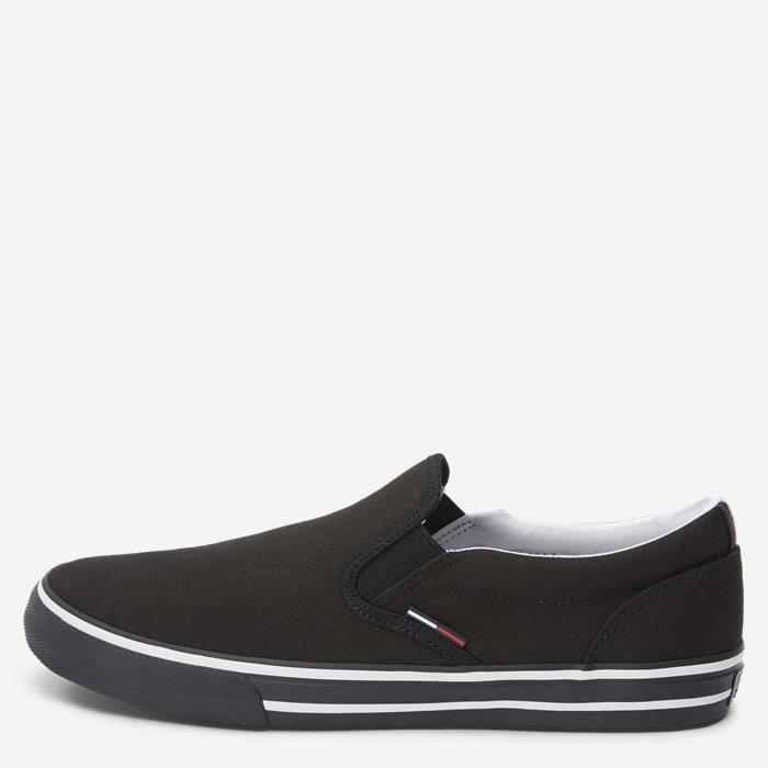 Textile Slip On Sneaker - Sko - Sort