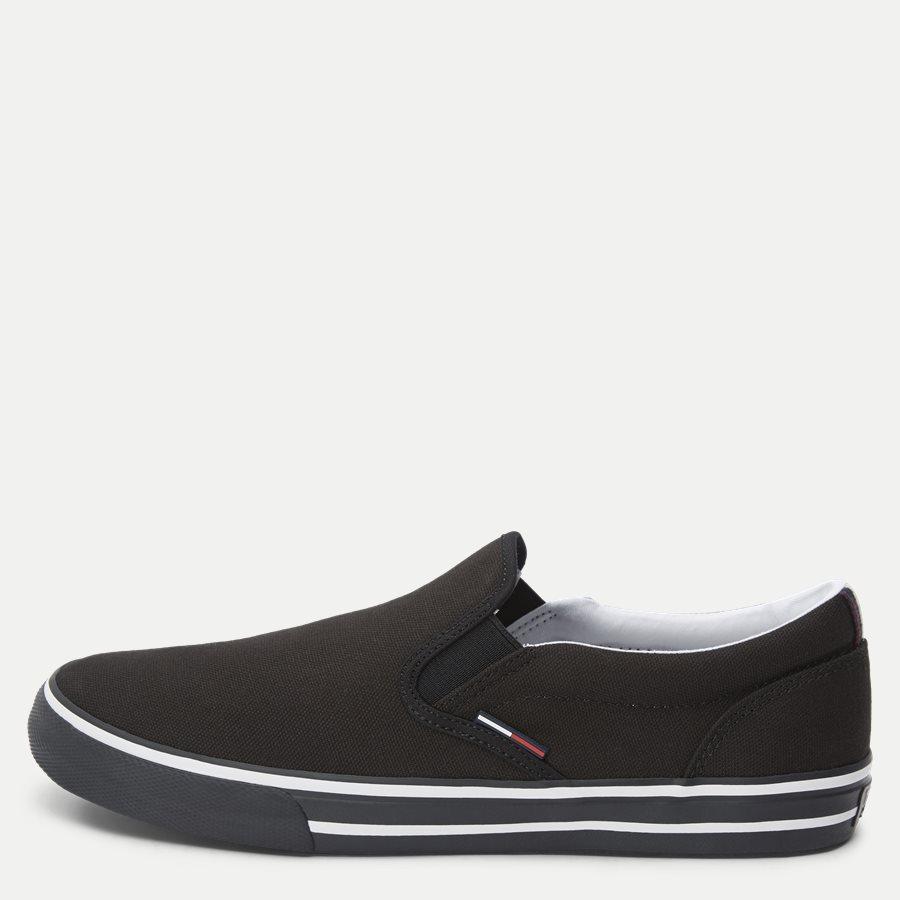 0002 EM0EM0 - Textile Slip On Sneaker - Sko - SORT - 1