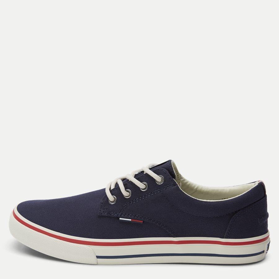 0001 EM0EM0 - Tommy Jeans Textile Sneaker - Sko - NAVY - 1