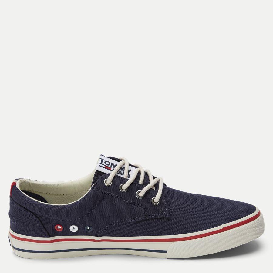 0001 EM0EM0 - Tommy Jeans Textile Sneaker - Sko - NAVY - 2
