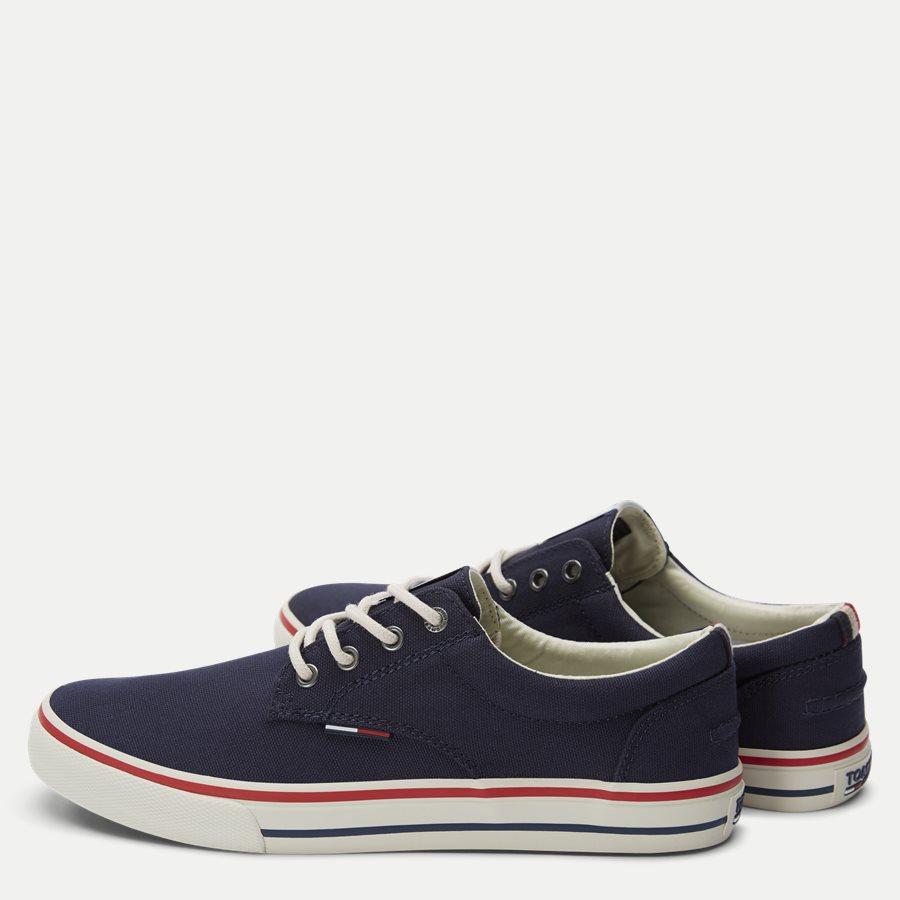 0001 EM0EM0 - Tommy Jeans Textile Sneaker - Sko - NAVY - 3