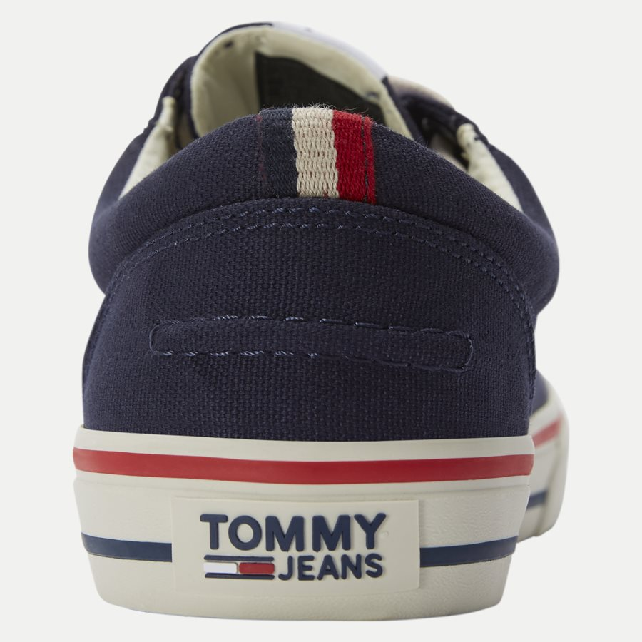 0001 EM0EM0 - Tommy Jeans Textile Sneaker - Sko - NAVY - 7