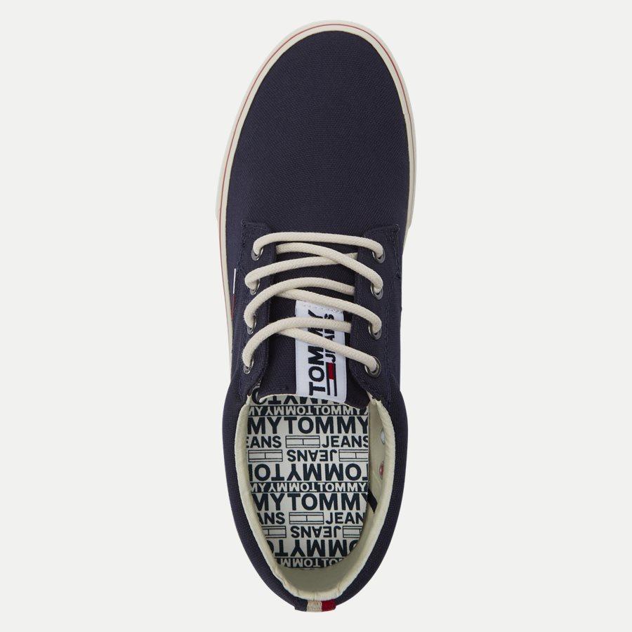 0001 EM0EM0 - Tommy Jeans Textile Sneaker - Sko - NAVY - 8