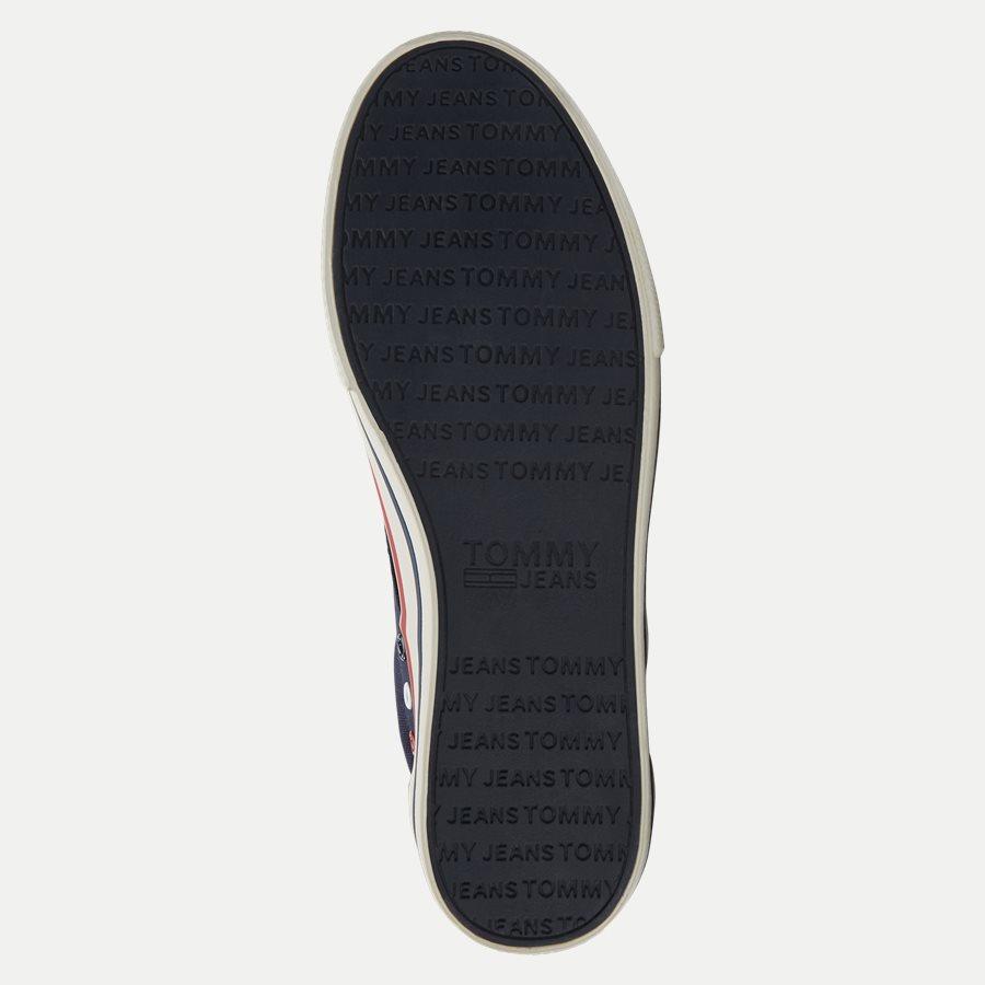 0001 EM0EM0 - Tommy Jeans Textile Sneaker - Sko - NAVY - 9