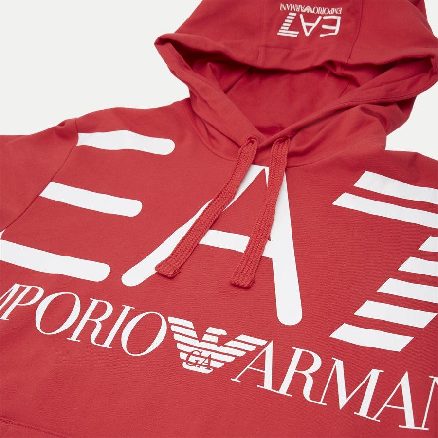 PJ05Z-3GPM16 - Logo Hoodie - Sweatshirts - Regular - RØD - 3