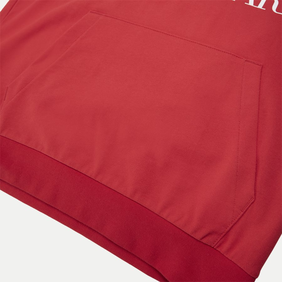 PJ05Z-3GPM16 - Logo Hoodie - Sweatshirts - Regular - RØD - 4