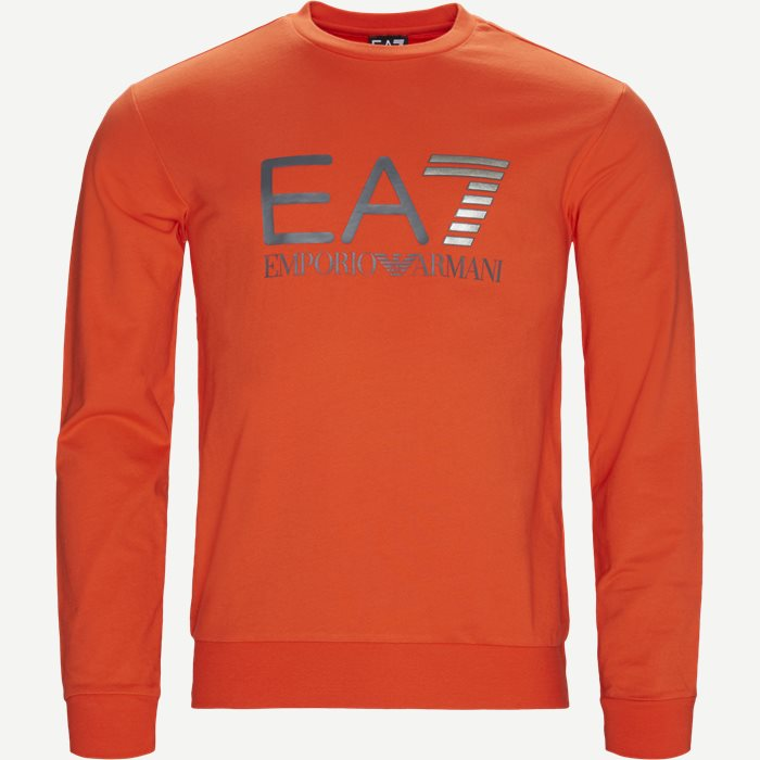 Crew Neck Sweatshirt - Sweatshirts - Regular - Orange