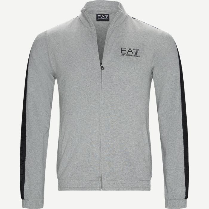 Full Zip Sweatshirt - Sweatshirts - Regular - Grå