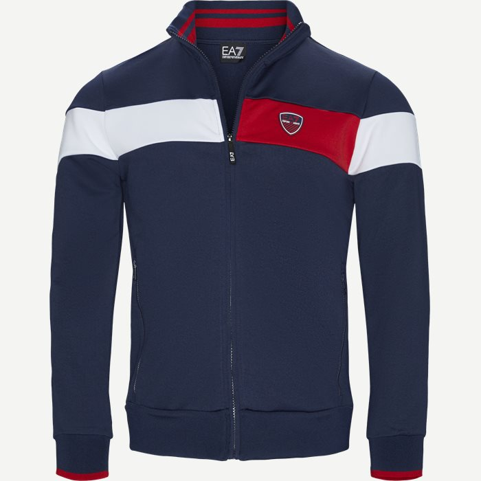 Full Zip Sweatshirt - Sweatshirts - Regular - Blå