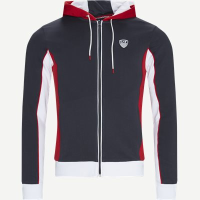 Full Zip Sweatshirt Med Hætte Regular | Full Zip Sweatshirt Med Hætte | Blå