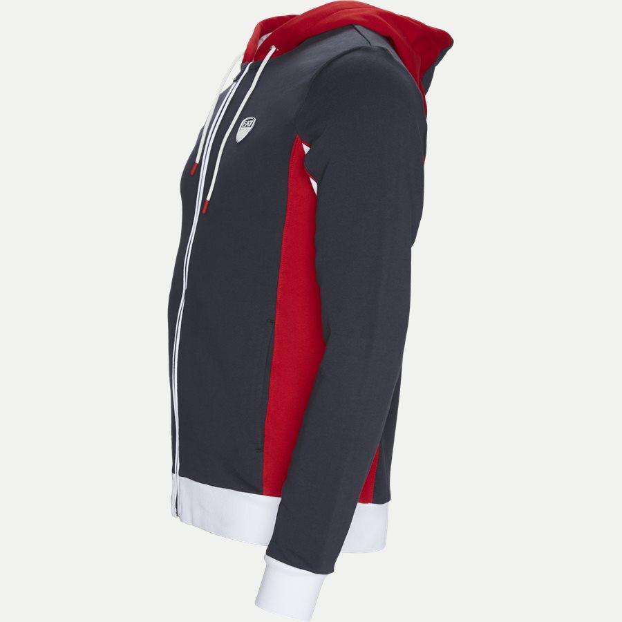 PJ11Z-3GPM85 - Full Zip Sweatshirt Med Hætte - Sweatshirts - Regular - NAVY - 3