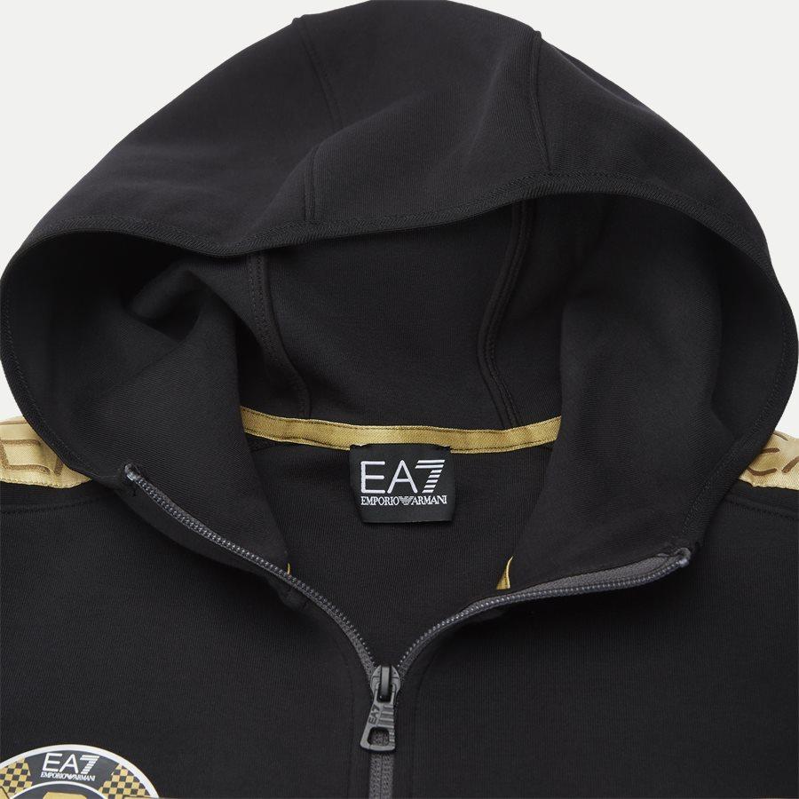 PJT6Z-3GPM38 - Sweatshirt Med Hætte - Sweatshirts - Regular - SORT - 5