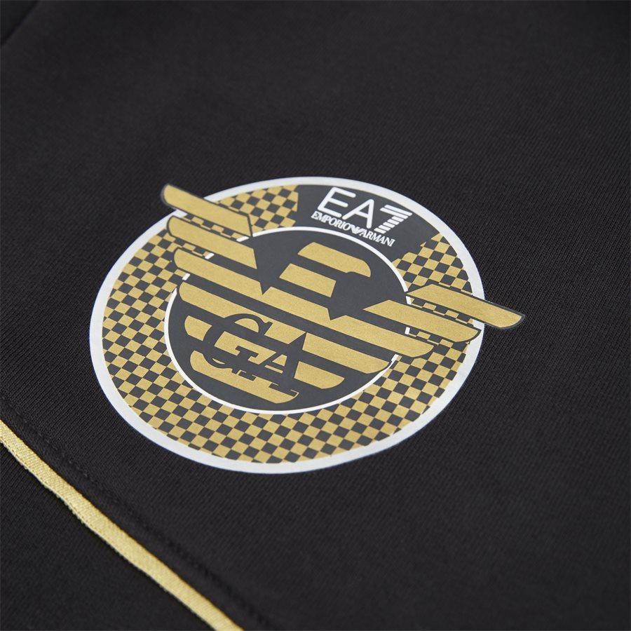 PJT6Z-3GPM38 - Sweatshirt Med Hætte - Sweatshirts - Regular - SORT - 7