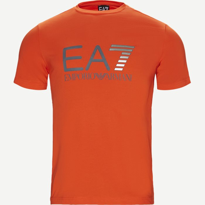 Logo T-shirt - T-shirts - Regular - Orange