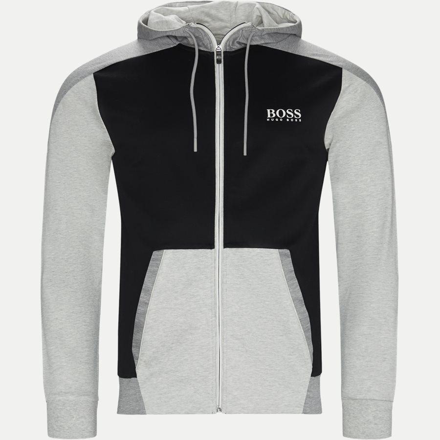 50403544 SLH-TECH - SLH-Tech Hoodie - Sweatshirts - Slim - GRÅ - 1