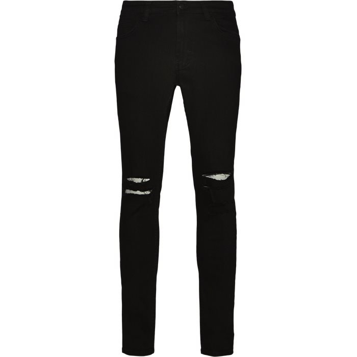 Max Black Holes Jeans - Jeans - Skinny fit - Sort