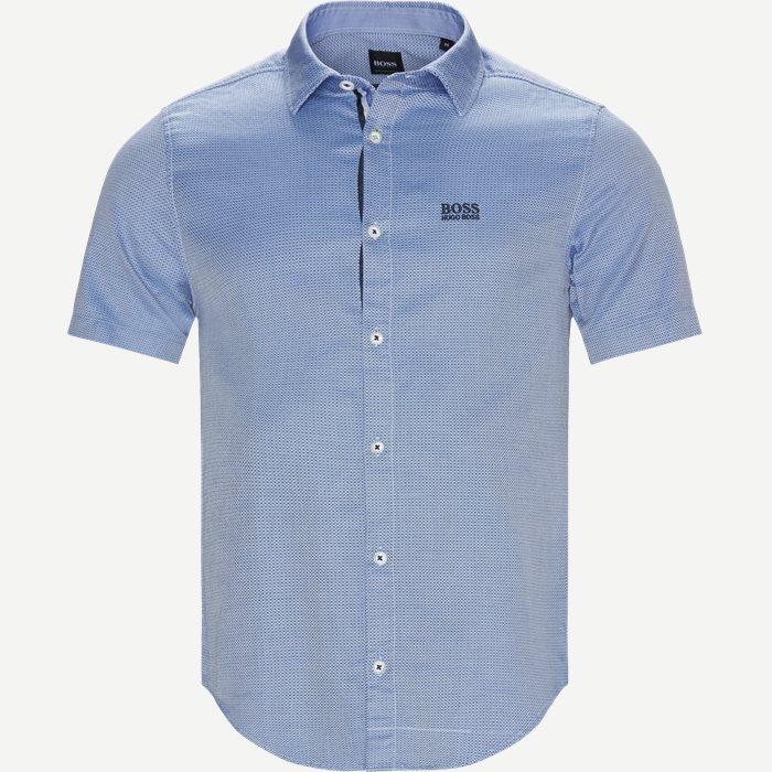 Brodi_S Kortærmet Skjorte - Kortærmede skjorter - Slim - Blå