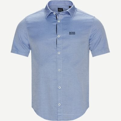 Brodi_S Kortærmet Skjorte Slim | Brodi_S Kortærmet Skjorte | Blå