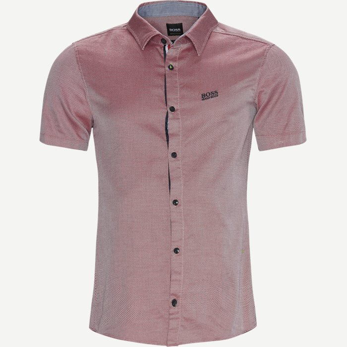 Short-sleeved shirts - Slim - Red