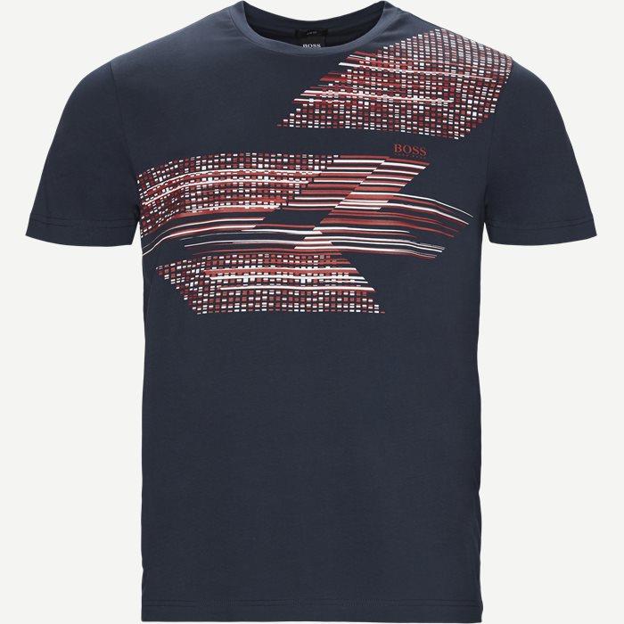 Teep1 T-shirt - T-shirts - Slim - Blå
